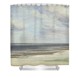 A Beach On The Baltic Sea At Laboe Shower Curtain by Jacob Gensler