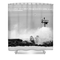 A Beacon Of Strength Shower Curtain