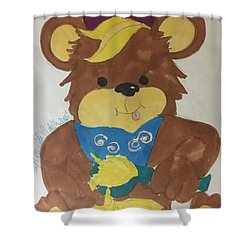 A Bear Loves Honey Shower Curtain