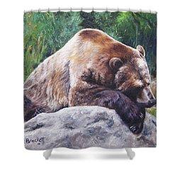 A Bear Of A Prayer Shower Curtain