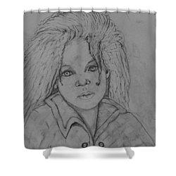 Wistful, The Drawing. Shower Curtain