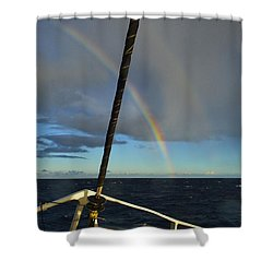 Shower Curtain featuring the photograph A Beautiful Day by James McAdams