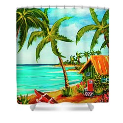 A Beautiful Day  Oahu #357 Shower Curtain by Donald k Hall
