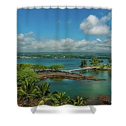 A Beautiful Day Over Hilo Bay Shower Curtain