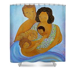 A Beautiful Family Shower Curtain by Gioia Albano