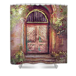 Shower Curtain featuring the digital art A Beautiful Mystery by Lois Bryan