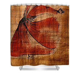 A Beautiful Painting Of A Whirling Shower Curtain