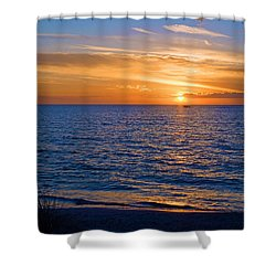 A Beautiful Sunset In Naples, Fl Shower Curtain