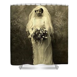A Beautiful Vintage Photo Of Coloured Colored Lady In Her Wedding Dress Shower Curtain