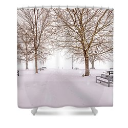 Shower Curtain featuring the photograph A Beautiful Winter's Morning  by John Poon