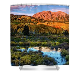 Shower Curtain featuring the photograph A Beckwith Morning by John De Bord