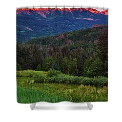 Shower Curtain featuring the photograph A Beckwith Sunrise by John De Bord