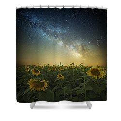 A Billion Suns Shower Curtain
