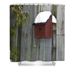 A Birdhouse To Live In Shower Curtain