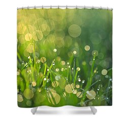 A Bit Of Green Shower Curtain