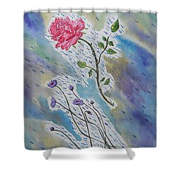 A Bit Of Whimsy Shower Curtain by Carol Crisafi