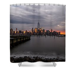 Shower Curtain featuring the photograph A Blaze Of Glory by Anthony Fields