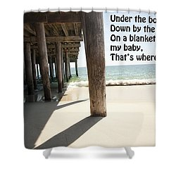 A Boardwalk Tune 1 Shower Curtain