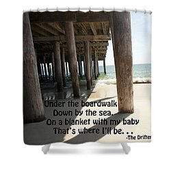 A Boardwalk Tune 2 Shower Curtain