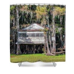 A Boggy Tea Room Shower Curtain