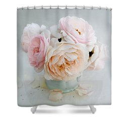 A Bouquet Of June Roses Shower Curtain