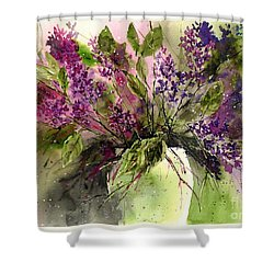 A Bouquet Of May-lilacs Shower Curtain