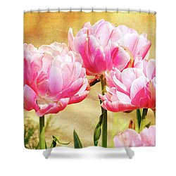 A Bouquet Of Tulips Shower Curtain