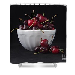A Bowl Full Of Cherries Shower Curtain