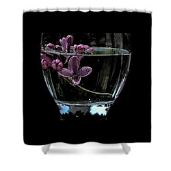 A Bowl Of Lilacs Shower Curtain