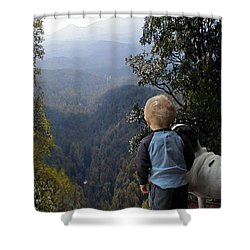 A Boy And His Dog Shower Curtain