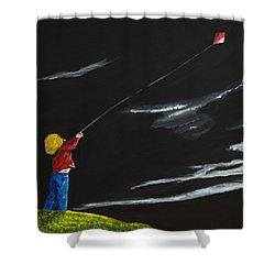 A Braw Night For Flight Shower Curtain