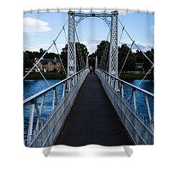 A Bridge For Walking Shower Curtain