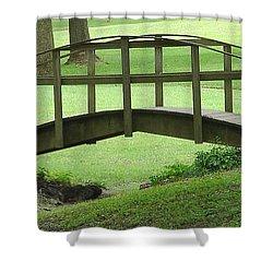 A Bridge In Washington County Shower Curtain by Luciana Seymour