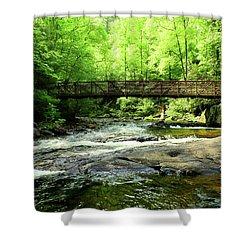 A Bridge Spans Over It Shower Curtain
