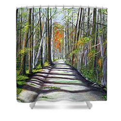 A Bright Autumn Day  Shower Curtain