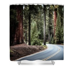 A Bright Future Around The Bend Shower Curtain