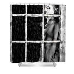 A Broken Heart Shower Curtain