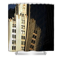 A Building Into A Building Shower Curtain by Karol Livote