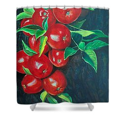 Shower Curtain featuring the painting A Bumper Crop by Susan DeLain