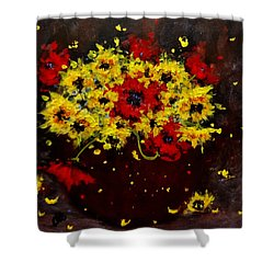 A Bunch Of Happiness.. Shower Curtain by Cristina Mihailescu