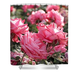 A Bunch Of Pink Shower Curtain by Laurel Powell