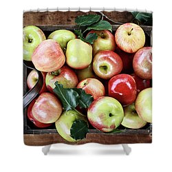 Shower Curtain featuring the photograph A Bushel Of Apples  by Stephanie Frey