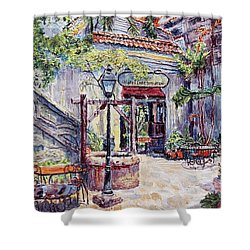 Cafe By The Hotel, Intramuros, Manila Shower Curtain