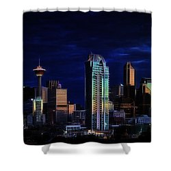 A Calgary Sunrise Shower Curtain