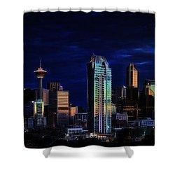 Shower Curtain featuring the photograph A Calgary Sunrise by Brad Allen Fine Art