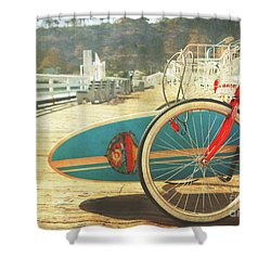 A California Postcard Shower Curtain