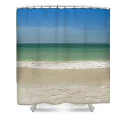 A Calm Wave Shower Curtain by Christopher L Thomley