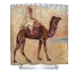 A Camel Shower Curtain by Pierre Auguste Renoir