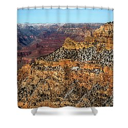 A Canyon Winter Shower Curtain