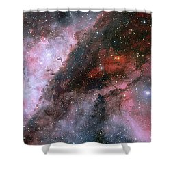 Shower Curtain featuring the photograph A Carina Nebula Pano by Nasa